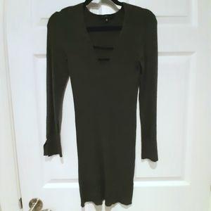 Dynamite dark grey bodycon sweater dress size L